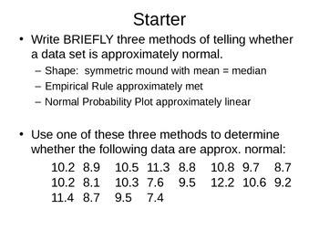 AP Statistics 02.9: Unit 1 Review