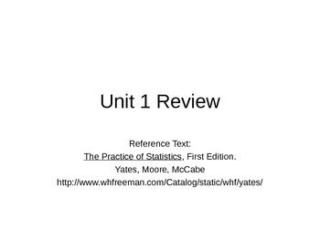 AP Statistics 02.9: Unit 1 Review