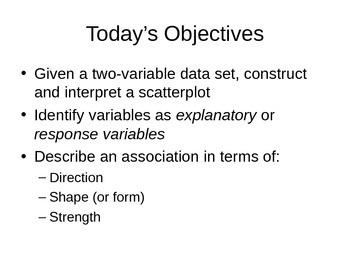 AP Statistics 03.1.1: Bivariate (two-variables) Scatterplots
