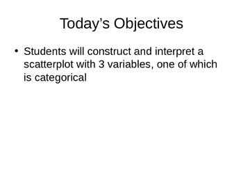AP Statistics 03.1.2: Categorical Variables in Scatterplots