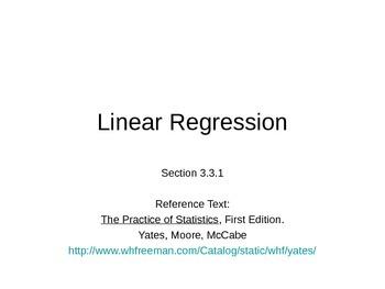 AP Statistics 03.3.1: Linear Regression