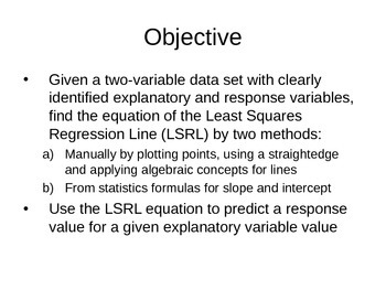 AP Statistics 03.3.1: Linear Regression