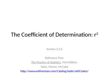AP Statistics 03.3.2: The Coefficient of Determination: r^2