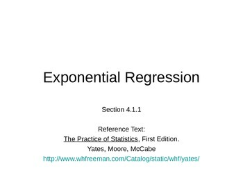 AP Statistics 04.1.1: Exponential Regression