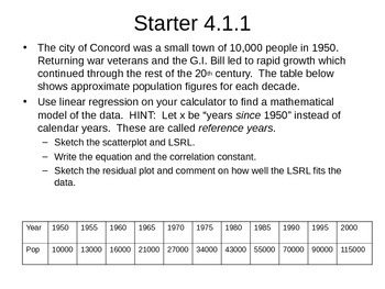 AP Statistics 04.1.1: Exponential Regression