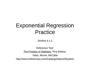 AP Statistics 04.1.2: Exponential Regression Practice