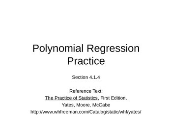 AP Statistics 04.1.4: Polynomial Regression Practice