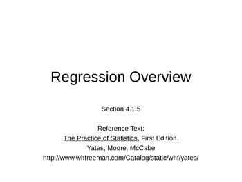 AP Statistics 04.1.5: Regression Overview
