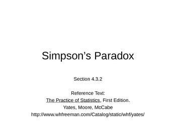 AP Statistics 04.3.2: Simpson's Paradox