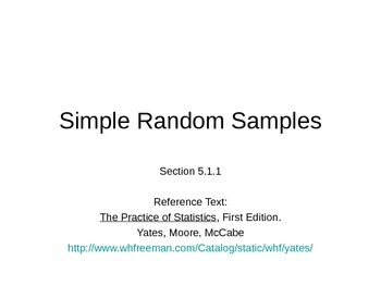 AP Statistics 05.1.1: Simple Random Samples