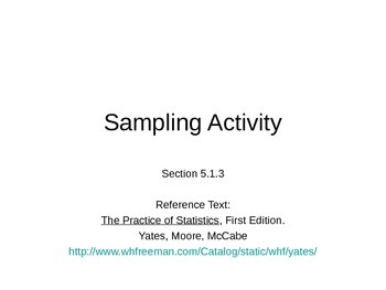 AP Statistics 05.1.3: Sampling Activity