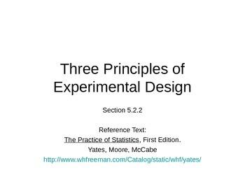 AP Statistics 05.2.2: Three Principles of Experimental Design