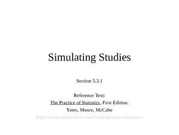 AP Statistics 05.3.1: Simulating Studies