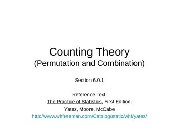 AP Statistics 06.0.1: Counting Theory (Permutation and Combination)