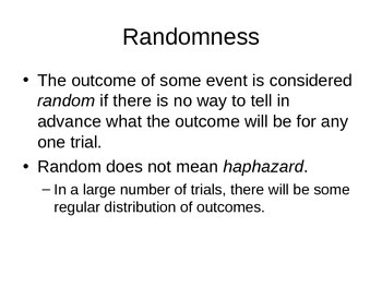 AP Statistics 06.1.1: Randomness and Probability