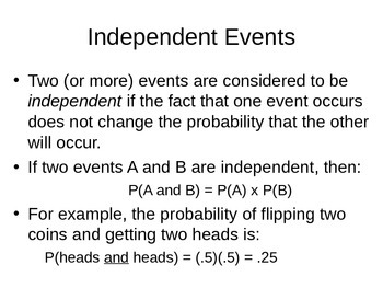 AP Statistics 06.2.2: Independent Events