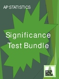 AP Statistics - Chapter 9 Bundle: Significance Tests