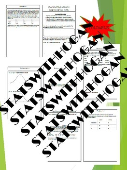 AP Statistics-Significance Tests for a difference in means