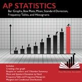 AP Statistics Stats Exploring Data: Boxplots, Histograms,