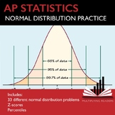 AP Statistics Stats Normal Distribution Practice