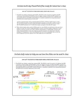 Probability unit test teaching resources teachers pay teachers notes ap stats statistics probability unit powerpoint tests quizzes keys notes fandeluxe Choice Image