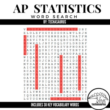 Math AP Statistics Word Search