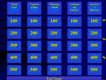 AP Stats Jeopardy Review Game