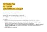 AP Studio Art 2-D Design Concentration Critique