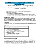 AP Studio Art Summer Assignments- Drawing/2D Design