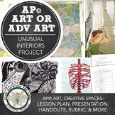 AP Studio Art or Advanced Art Project: Unusual Interiors, Perspective, and Value