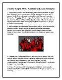 AP Style Twelve Angry Men Essay Prompts