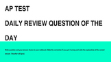 Bell Ringers: APTest Prep Question of the Day