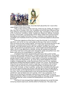 AP The Hiundred Years War and War of the Roses: The Battle of Agincourt