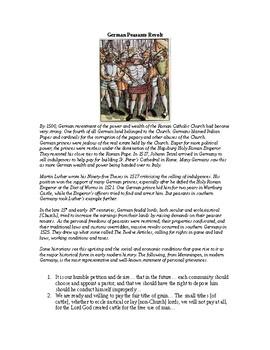 AP The Reformation: German Peasants Revolt