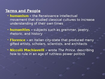 AP The Renaissance: Niccolo Machiavelli and The Prince