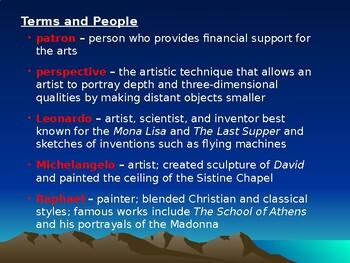 AP The Renaissance: Renaissance Art