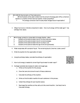 AP Thermodynamics standards based Remediation/Exam Review