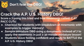 AP U.S. History DBQ Writing Made EASY!
