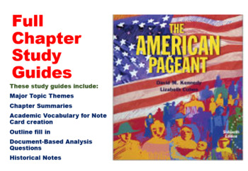 AP U.S. History Textbook Chapter Outlines/Study Guides (American Pageant)