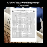 APUSH New World Beginnings Vocabulary Review Crossword Puzzle
