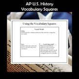 AP U.S. History Vocabulary Squares Period 2 1607-1754 APUSH