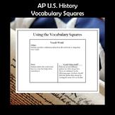 AP U.S. History Vocabulary Squares Period 6 1865-1898 APUSH