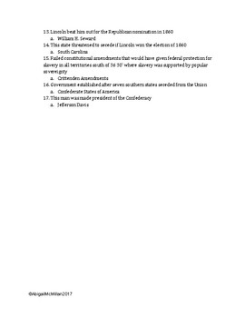AP US American Pageant Chapter 19 Daily Reading Quiz