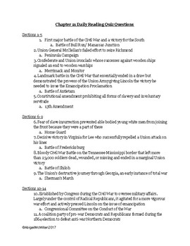 AP US American Pageant Chapter 21 Daily Reading Quiz