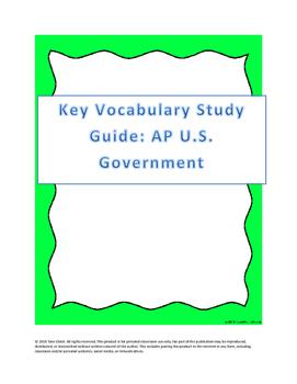 AP US Government Essential Vocabulary List
