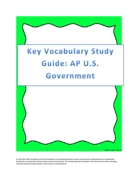 AP US Government Essential Vocabulary List