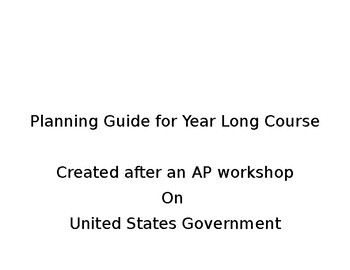 AP US Government Planning Guide