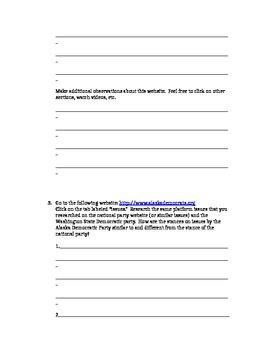 A.P. U.S. Government Political Parties Webquest Research