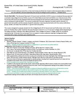 AP US Government & Politics Syllabus