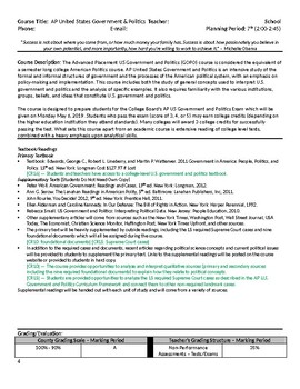 AP US Government & Politics Syllabus - REDESIGN College Board Approved